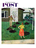 """Put the Tree There"" Saturday Evening Post Cover  April 9  1955"