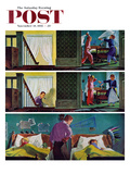 """""""Pillow Fight"""" Saturday Evening Post Cover  November 19  1955"""