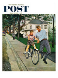 """Bike Riding Lesson"" Saturday Evening Post Cover  June 12  1954"
