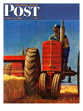 &quot;Wheat Harvest&quot; Saturday Evening Post Cover  August 12  1950