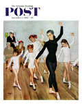 """Ballet Class"" Saturday Evening Post Cover  November 3  1956"