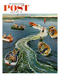 """Making a Wake"" Saturday Evening Post Cover  July 26  1958"