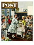 """Home Ec"" Saturday Evening Post Cover  February 28  1953"