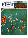 &quot;Marching Band at Halftime&quot; Saturday Evening Post Cover  November 20  1954