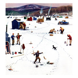"""Ice Fishing Camp""  January 12  1957"