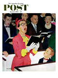 &quot;Singing Praise&quot; Saturday Evening Post Cover  March 7  1959