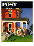 """Family Portrait on the Fourth"" Saturday Evening Post Cover  July 5  1952"