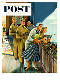 """Shooting Gallery"" Saturday Evening Post Cover  September 12  1953"