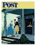 """Date for the Dance"" Saturday Evening Post Cover  August 5  1950"