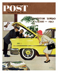 """Checking it Out"" Saturday Evening Post Cover  November 15  1958"