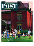 """Croquet Game"" Saturday Evening Post Cover  September 29  1951"