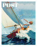 """Seasick Sailor"" Saturday Evening Post Cover  August 22  1959"