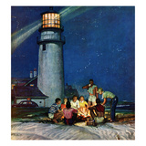 """Beach Bonfire""  September 16  1950"