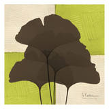 Ginkgo Brown Quad on Green