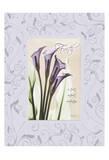 Calla Faith With Purple Damask Frame