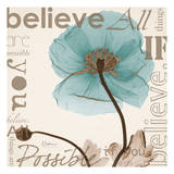 Believe  Blue Poppy