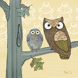 Pastel Owls IV