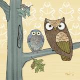 Pastel Owls IV Reproduction d'art par Paul Brent