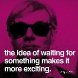 Délicieuse attente Reproduction d'art par Andy Warhol