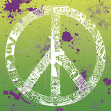 Peace  Love  Music (on green)