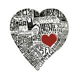 Amour en 44 langues Reproduction d'art par L.A. Pop Art