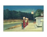 Station essence, vers 1940 Reproduction d'art par Edward Hopper