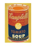 Colored Campbell&#39;s Soup Can  c1965 (yellow &amp; blue)