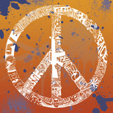 Peace  Love  Music (on orange)