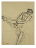 Dancer Seated  Readjusting Her Stocking; Danseuse Assise  Reajustant Son Bas