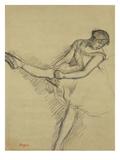 Dancer Seated  Readjusting Her Stocking; Danseuse Assise  Reajustant Son Bas