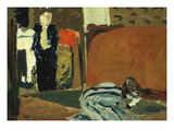 Woman Looking under the Bed; Femme Regardant Sous Un Lit