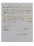Autograph Manuscript D of 'Im Fruhling'  Opus 9 No 4  Dated 6/12/1845  2 Pages  55 Bars