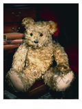 An Alpha Farnell Teddy Bear with Golden Mohair and Large Brown and Black Glass Eyes