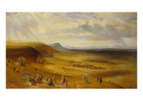 An Extensive View of Devil's Dyke  Newmarket with Gentry Picnicking