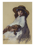 Young Girl with Her Puppy Elizabeth Adela Stanhope Forbes (1859-1912)