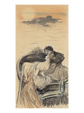 Amorous Couple in a Small Boat; Couple D&#39;Amoureux Dans Une Barque
