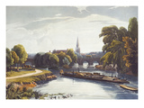 Abingdon Bridge and Church from 'A Series of Picturesque Views of the River Thames'
