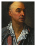 Portrait of Denis Diderot  Bust-Length  Wearing an Open  Lace-Collared  Shirt and Jacket