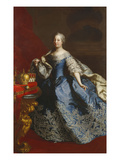 Portrait of Empress Maria Theresa of Austria (1717-80)  in a Blue Dress Decorated with Lace  an