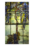 Detail from a Fine Leaded Glass Triptych Window (Wisteria)