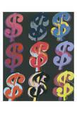 $9, c.1982 (on black) Reproduction d'art par Andy Warhol