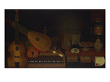 A Still Life of a Large Viol  a Lute  a Violin  a Recorder  and a Harpsichord with a Terrestrial…