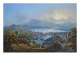 General View of the Town and Lake of Lucerne; Vue Generale De La Ville Et Du Lac De Lucerne