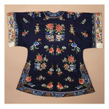Fine and Important Kanat of Cotton  Printed and Painted with Bold Lilies with Perching Birds