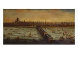 A Panoramic View of the River Thames and the City of London Taken from the