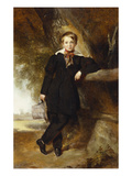 Portrait of a Boy  Possibly a Member of the Stirling Family  Full Length  in a Dark Jacket and…