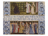 Beauty and the Beast'  a Morris  Marshall  Faulkner and Co Tile Panel (Detail)