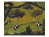 Cows in a Field; Vaches Dans Un Pre