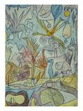 Flock of Birds; Vogelsammlung Giclée par Paul Klee