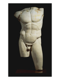 An Important Roman Marble Torso of the Diadumenos of Polykeitos
